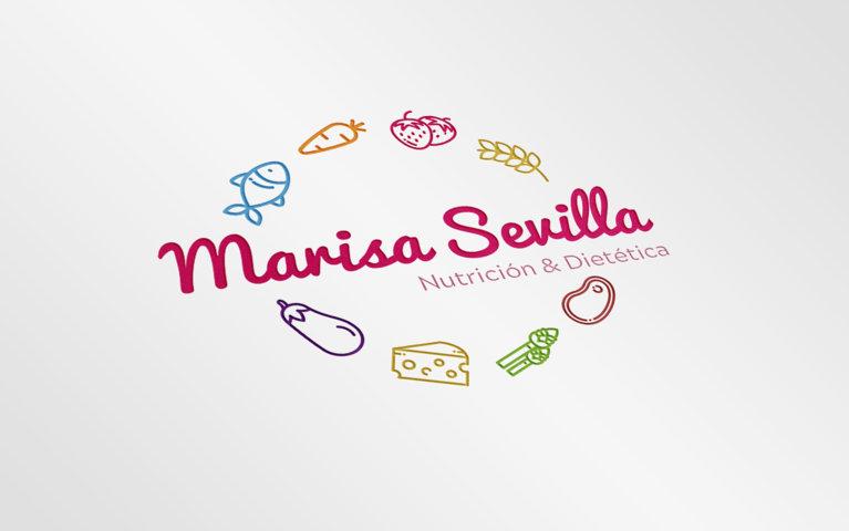 Logotipo para Marisa Sevilla Nutrición y Dietética