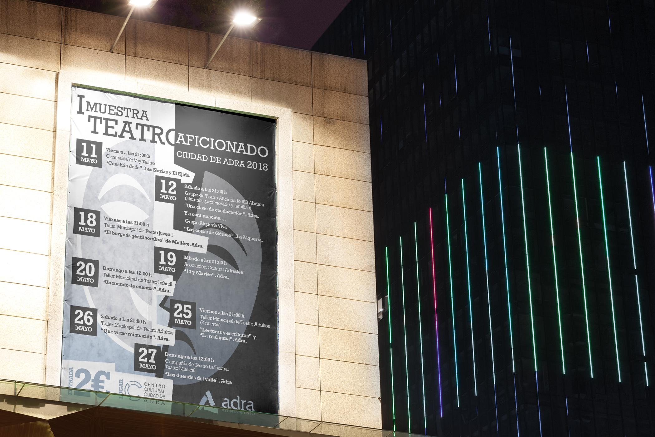 Cartel I Muestra Teatro Aficionado Ciudad de Adra 2018