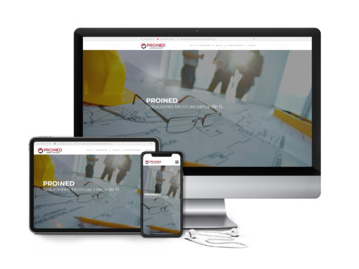 Diseño Web PROINED Ingeniería + Instalaciones
