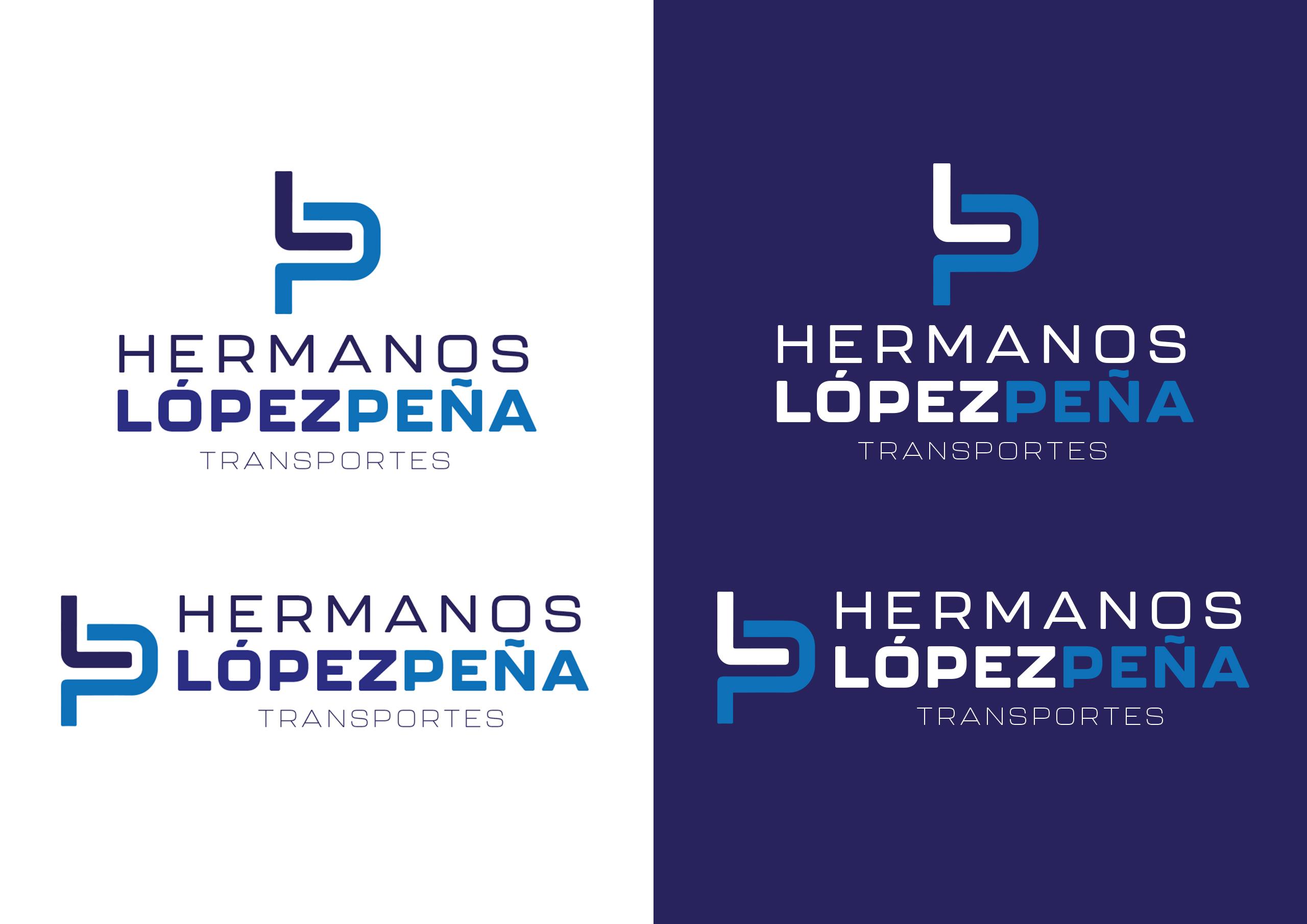 Logo Fondo Blanco/Negro Hermanos Lopez Peña